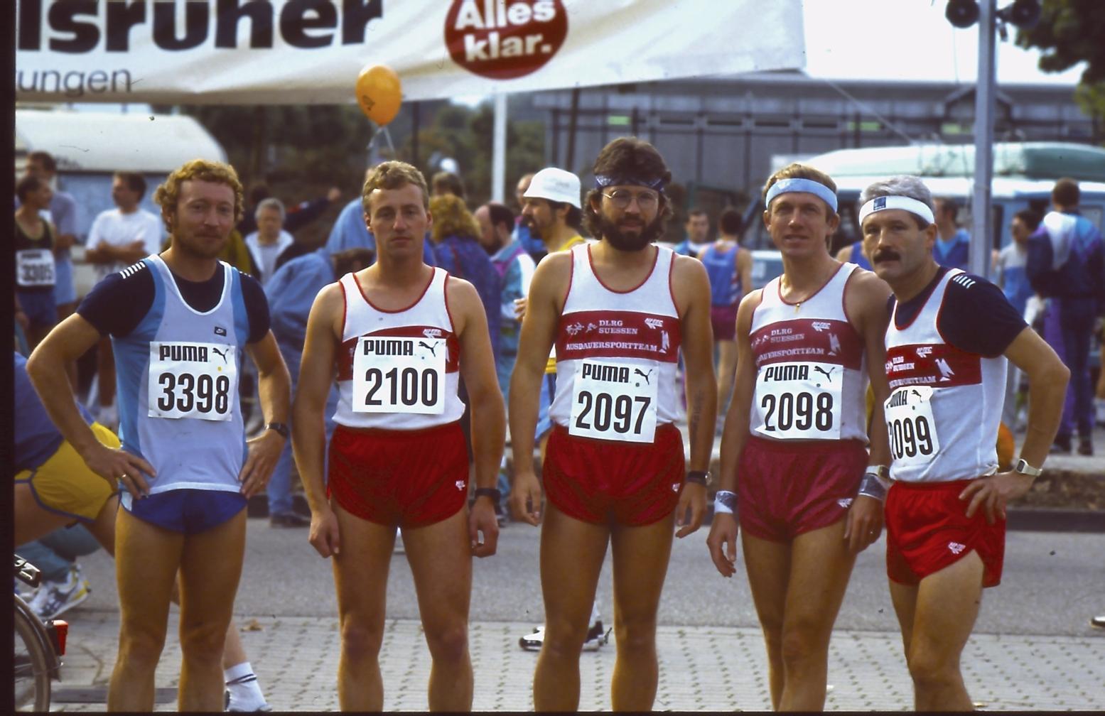 Helmut Fischer, Josef Nagelschmitz, Klaus Lehmann, Arno Prügner und Heinz Matuszcyk