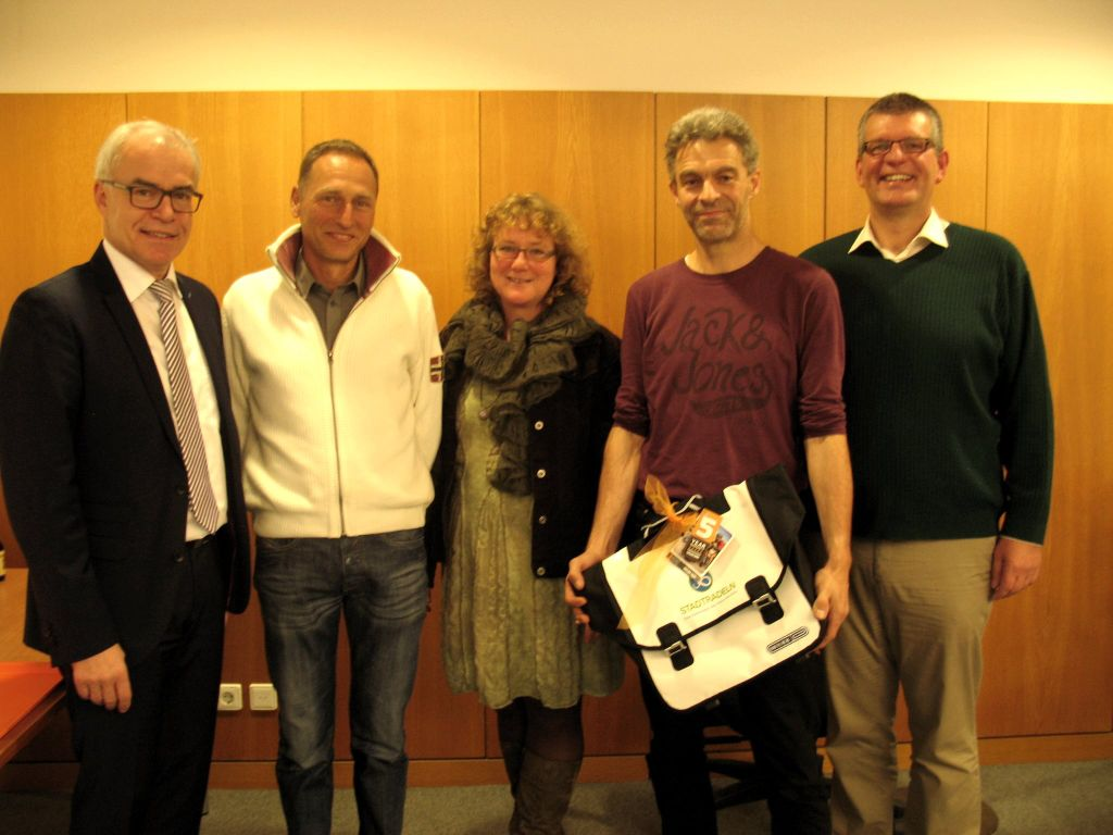 v.l.n.r: Edgar Wolff, Thomas Gotthardt, Siggi Saalmüller, Dirk Messer und Andreas Posim